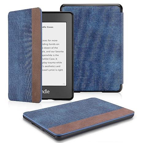OMOTON Funda para Kindle Paperwhite (10ª Generación) Carcasa Kindle Paperwhite (2018 Lanzado), Sueño Automático, Cierre Magnético, Color Azul y ...