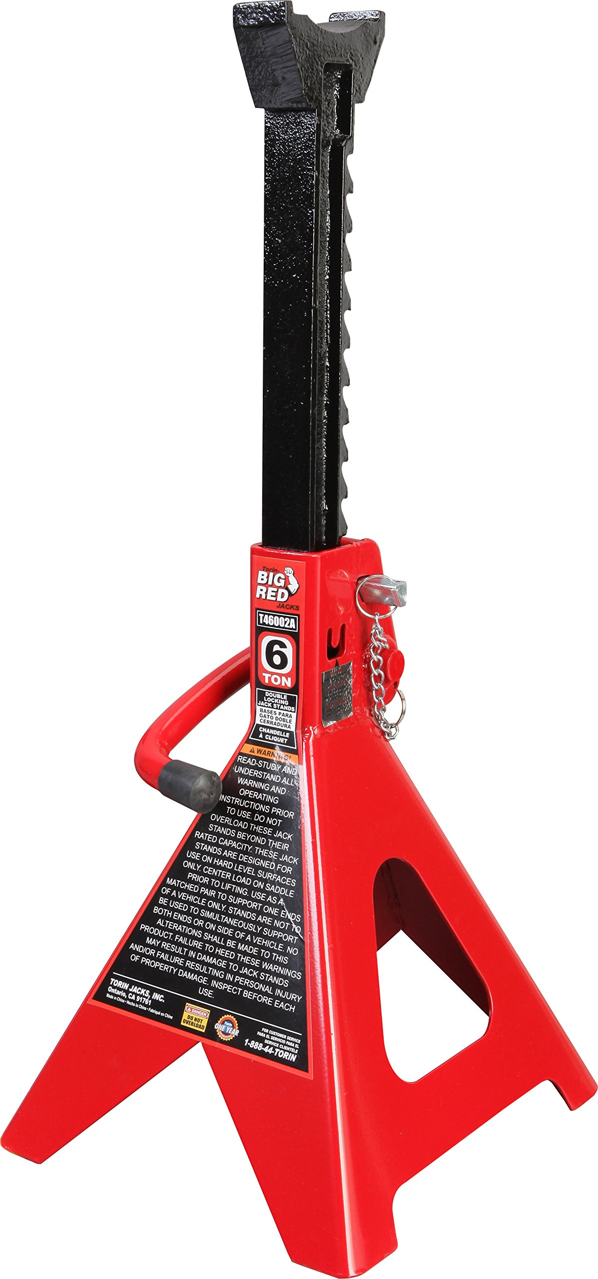 Torin Big Red Steel Jack Stands: Double Locking, 6 Ton Capacity, 1 Pair by Torin (Image #3)