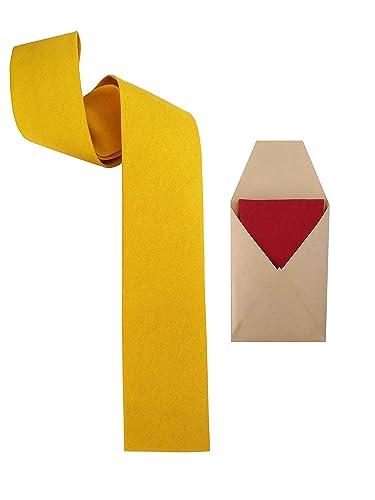 Corbata amarilla cuadrada con pañuelo de bolsillo varios colores ...