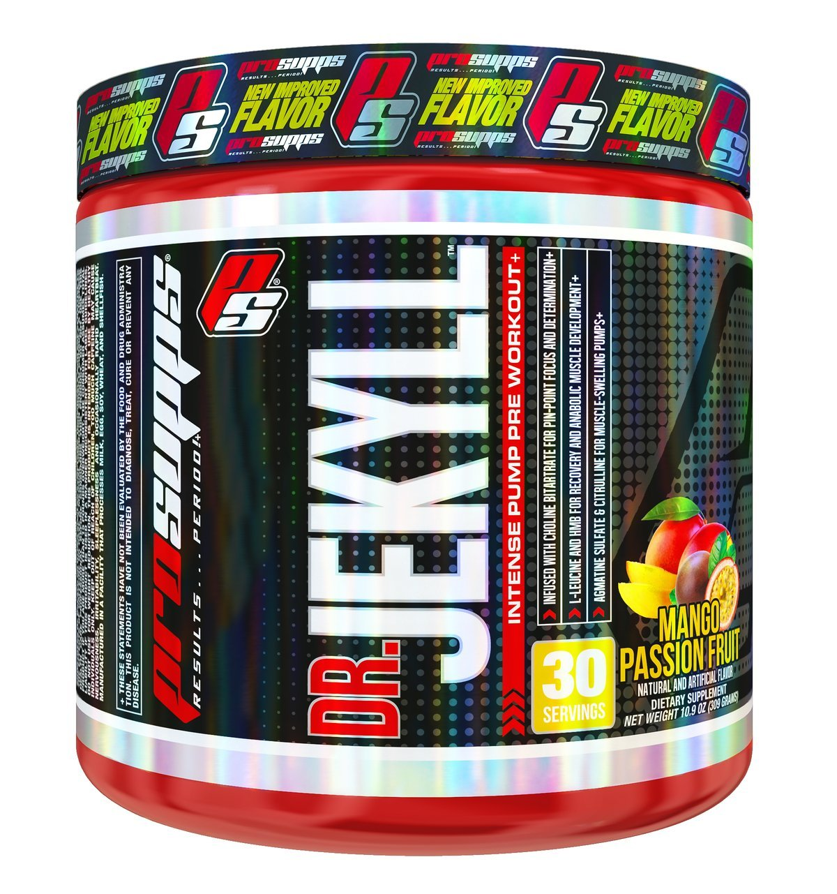 ProSupps Dr Jekyll Intense Pump Pre Workout Pikatropin Free Formula, Mango Passion Fruit, 10.9 Ounce