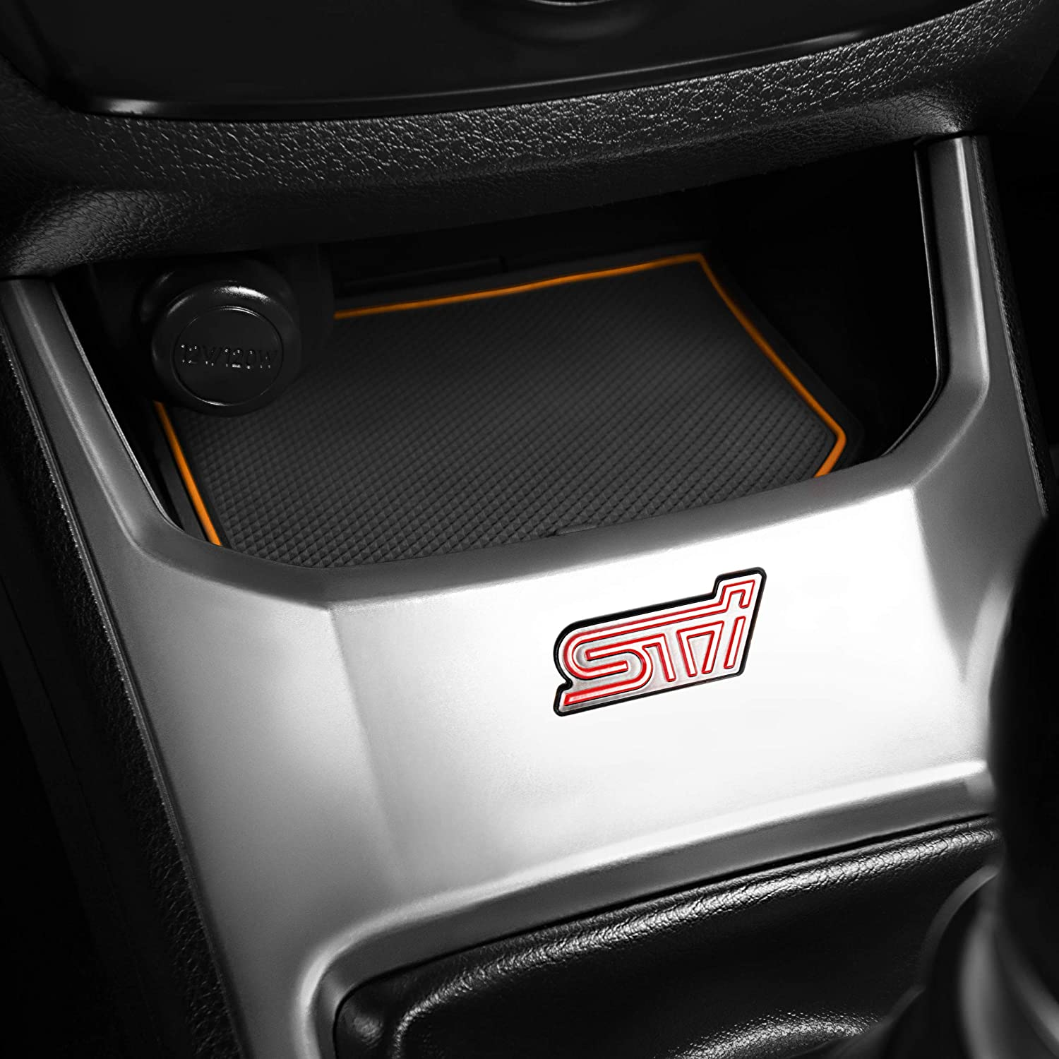 and Console Liner Accessories for 2008-2014 Subaru Impreza WRX STI Red Custom Fit Cup Door