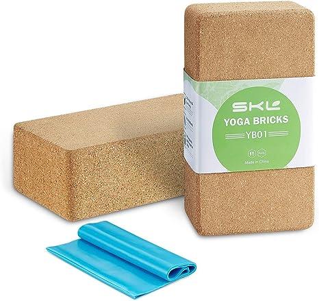 SKL Cork Yoga Block 2 Pack Plus Correa Corcho Ladrillos de yoga ...