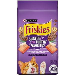Friskies Feline Favorites Dry Cat Food, 3.15 lbs