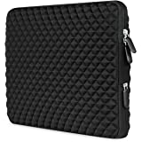 [Best Shock-resistant Laptop Sleeve Ever] AMNIE Diamond Foam Splash & Shock Resistant Neoprene 15-15.6 Inch Laptop Sleeve Case Bag/ Notebook Computer Case / Briefcase Carrying Bag / Chromebook Sleeve / Ultrabook Laptop Tablet Bag Case / Pouch Cover / Skin Cover, Black