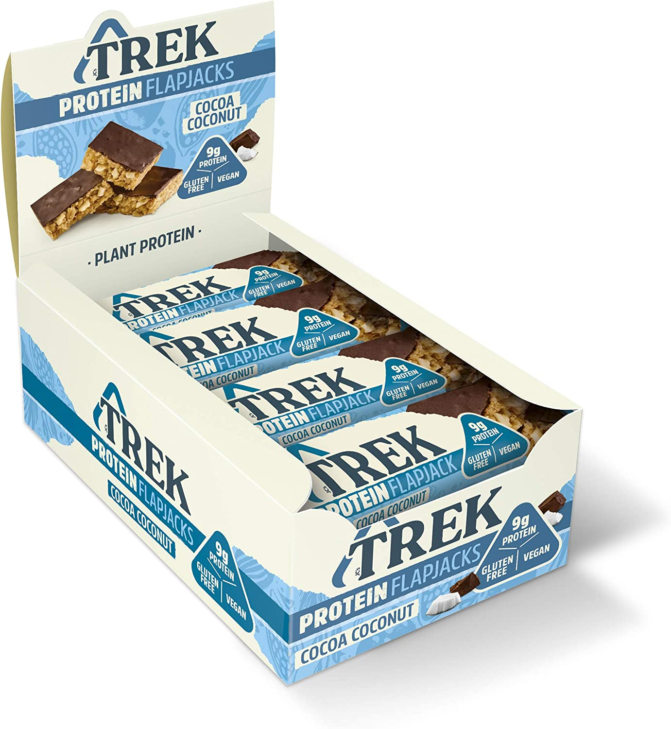 TREK High Protein Flapjacks 50g (Pack of 16 Bars)