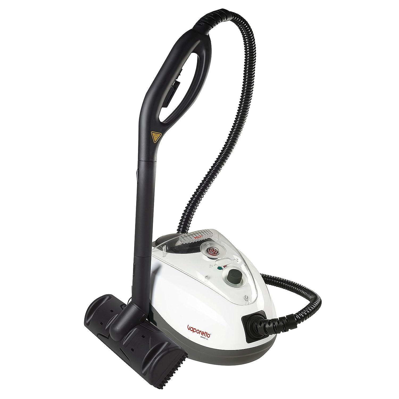 POLTI PTEU0270 Dampfreiniger Smart 45 mit ständiger Nachfüllbarkeit, maximal Druck 4,0 bar, Dampfausstoss bis zu 100 g/min, Aufheizzeit 3 Minuten, Anzeigesignal Druck bereit, Wasser nachfüllen, Heizkessel aus Edelstahl, 36 x 25 x 25 cm, 1500 W