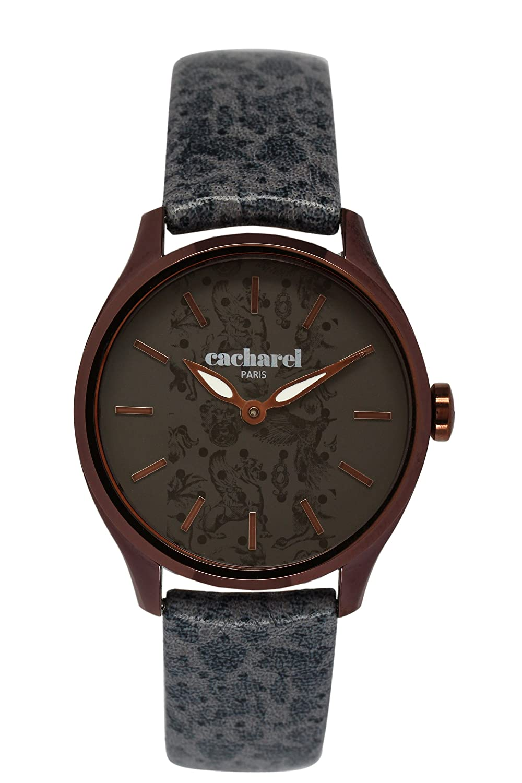 Cacharel Damen-Armbanduhr Analog Quarz Leder CLD 002-5UU