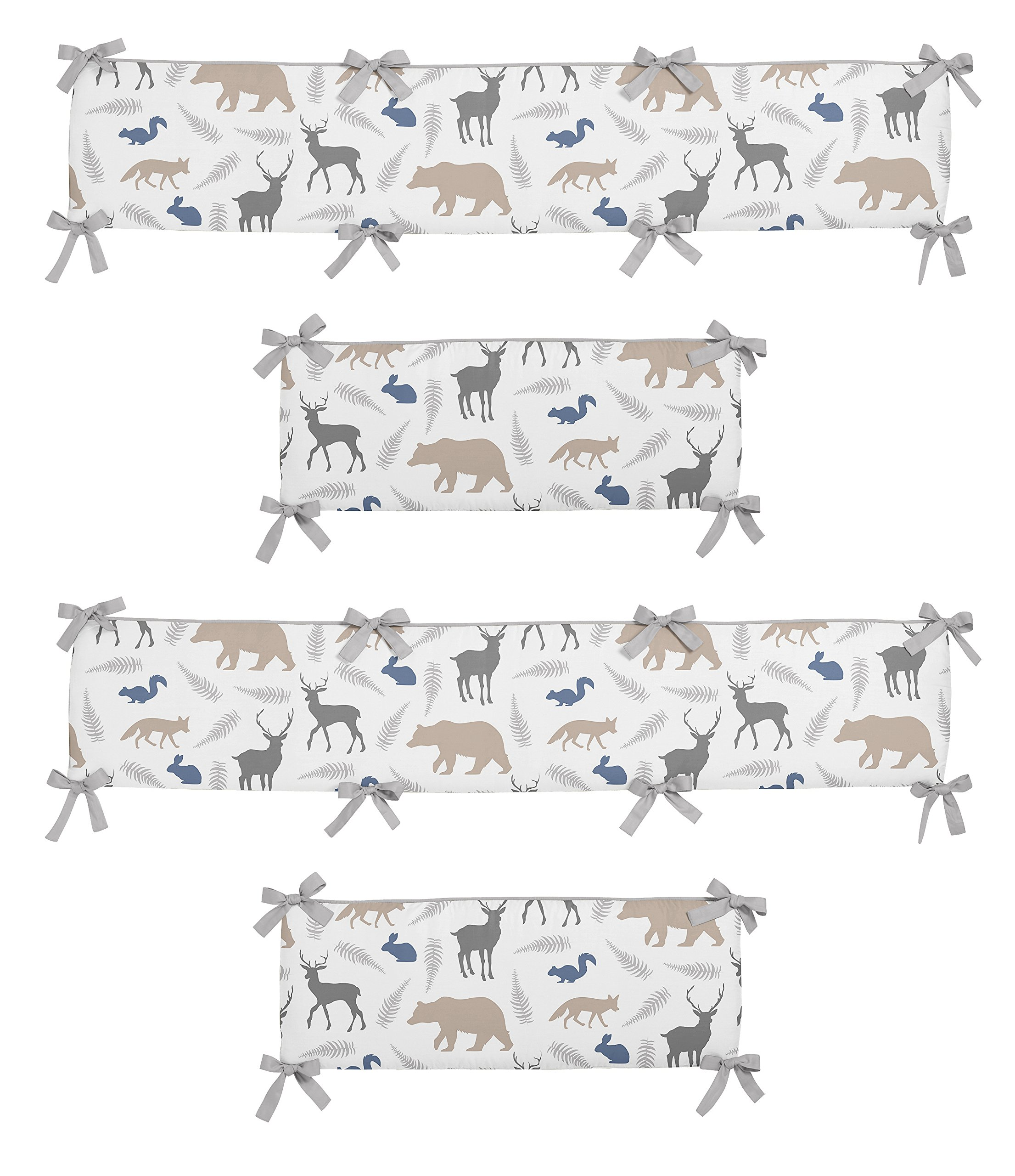 Sweet Jojo Designs 2-Piece Crib Bumper for Woodland Animals Collection