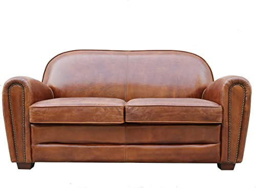 Pasargad Carpets Paris Club Genuine Leather Loveseat