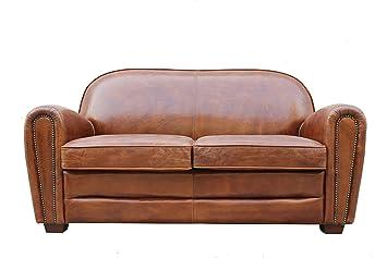 Gentil Pasargad Carpets Paris Club Genuine Leather Loveseat, 2u0027 9u0026quot; ...