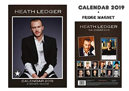 Calendario 2019 de Heath Ledger, imán para nevera: Amazon.es ...