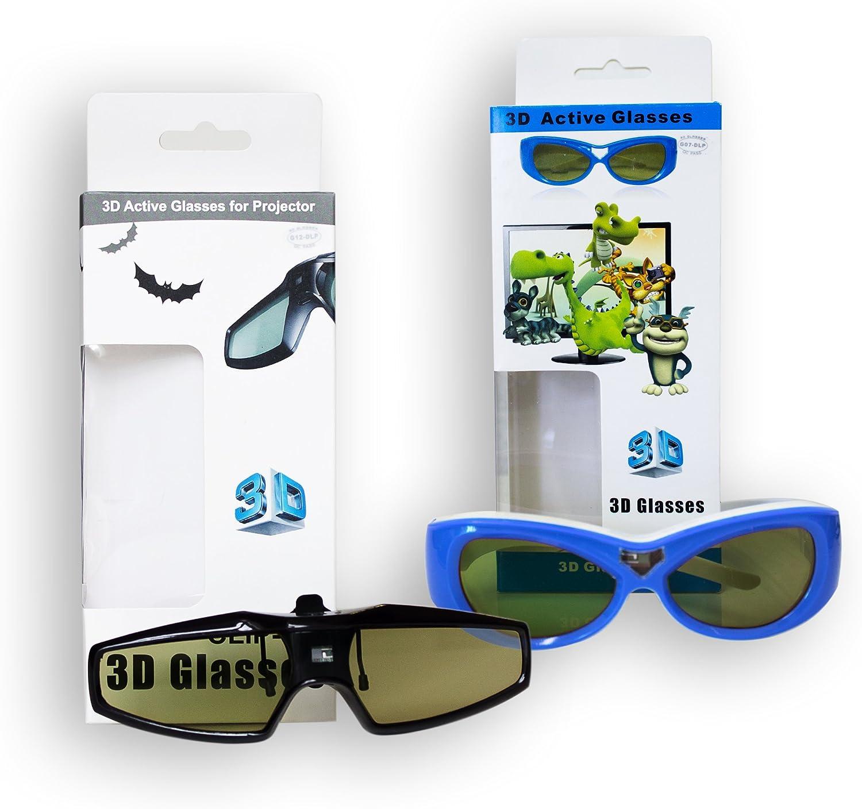 DLP-Link 3D gafas 3D con obturador 3D USB especialmente para los usuarios de gafas