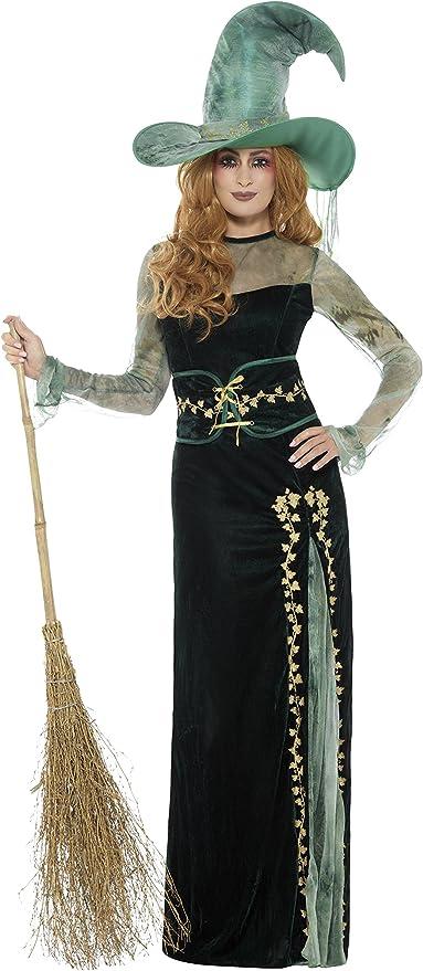 SmiffyS 45111S Disfraz Deluxe De Bruja Esmeralda Con Vestido ...