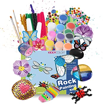 Kiddy Color Rock Painting Craft Kits Art Set for Kids