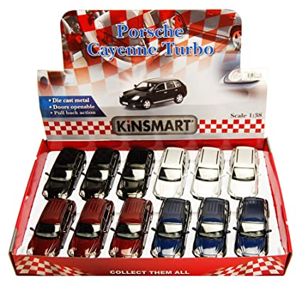 Kinsmart Porsche Cayenne SUV Diecast Car Package - Box of 12 1/38 scale Diecast