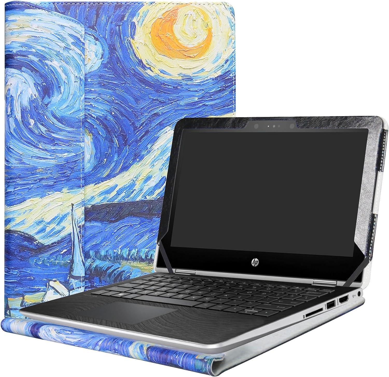 """Alapmk Protective Case Cover for 11.6"""" HP Pavilion x360 11 11M-adXXX 11-adXXX 11M-AD013DX Series Laptop(Warning:Not fit Pavilion x360 11 11-kXXX 11-uXXX 11-nXXX Series),Starry Night"""