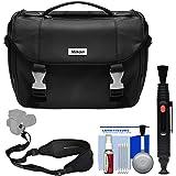 Nikon Deluxe Digital SLR Camera Case Bag with Strap Kit (Certified Refurbished) for D3300, D3400, D5300, D5500, D7200, D500, D610, D750, D810