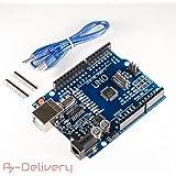 AZDelivery UNO R3 mit USB-Kabel, 100 % kompatibel mit Arduino mit gratis eBook!