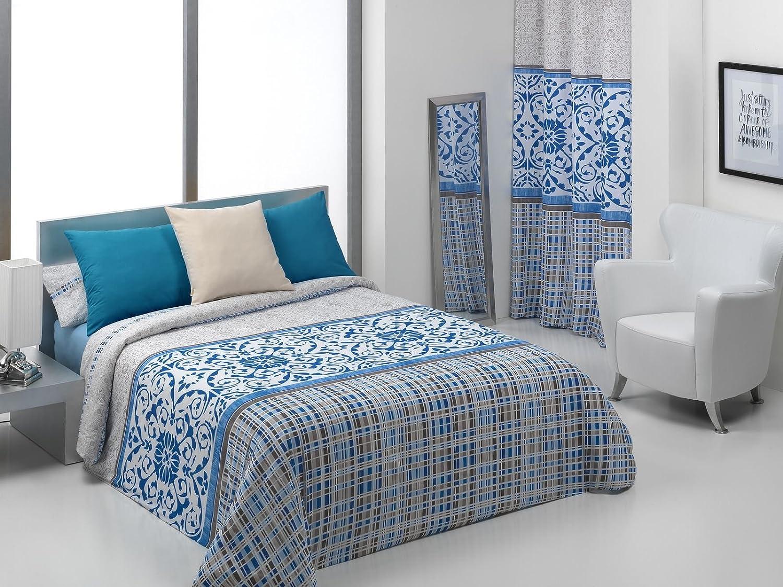 150 x 220 cm Blu Quilt /& Nelas CO Parure di Copripiumino para cama de 90 cm