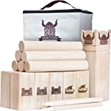 GoSports Kubb Viking Clash Toss Game Set for Kids & Adults