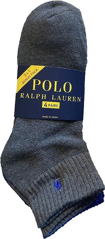 Polo Ralph Lauren - Pack de 4 calcetines atléticos, talla única ...