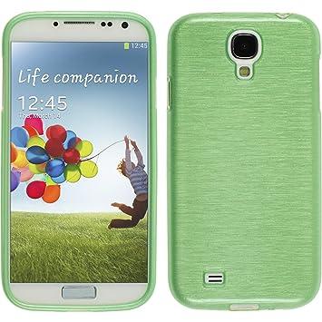 PhoneNatic Case para Samsung Galaxy S4 Funda Silicona Verde Brushed Cover Galaxy S4 Funda Case
