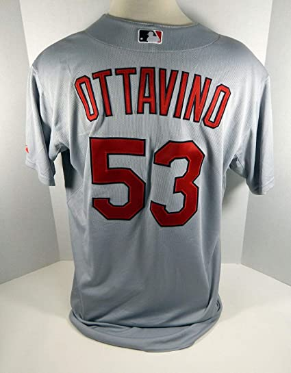brand new 064ba 0d4dd 2011 St Louis Cardinals Adam Ottavino #53 Game Issued Grey ...