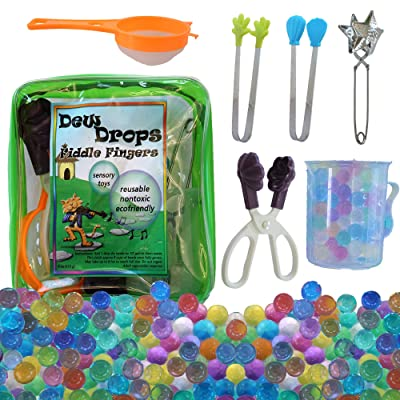 SENSORY4U Water Beads with Fine Motor Sensory Toys Set, Water Bead Sensory Bin Kit, Kids Learning Educational Toys: Toys & Games