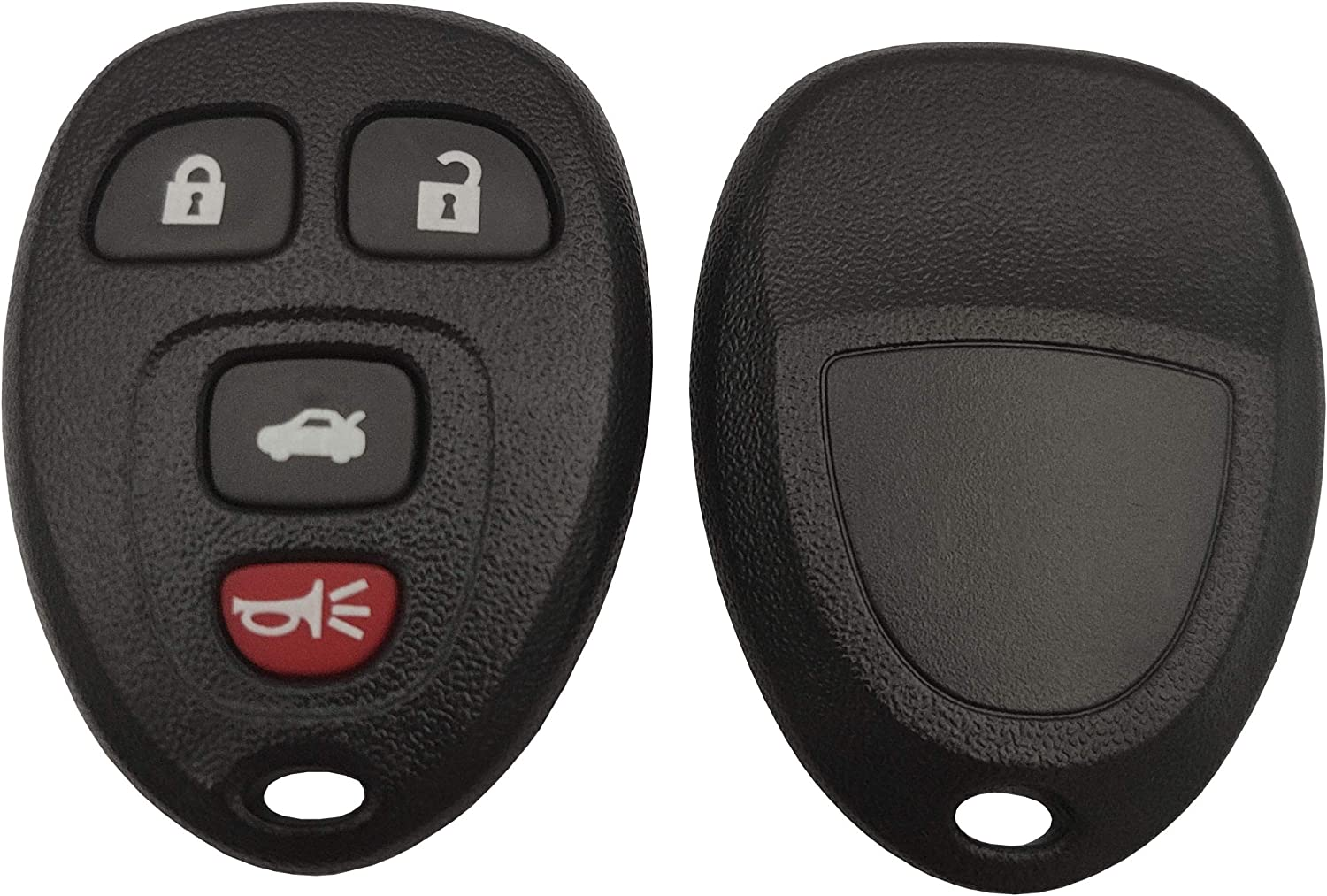 BINOWEN Replacement for GM Chevrolet Chevy Cadillac Buick 4 Buttons Keyless Entry Remote Car Key Fob Shell Case