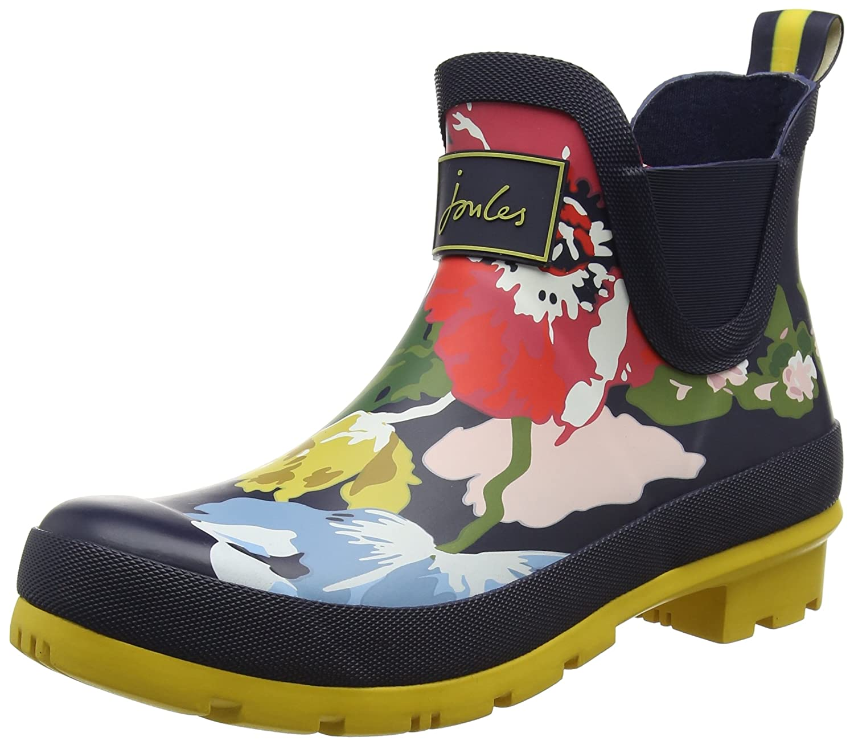 Joules Women's Wellibob Rain Boot B0714D3LWM 9 B(M) US|French Navy Posy