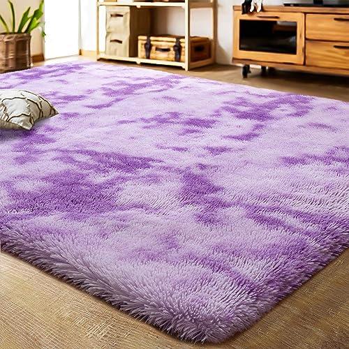 LOCHAS Luxury Velvet Shag Area Rug Modern Indoor Fluffy Rugs