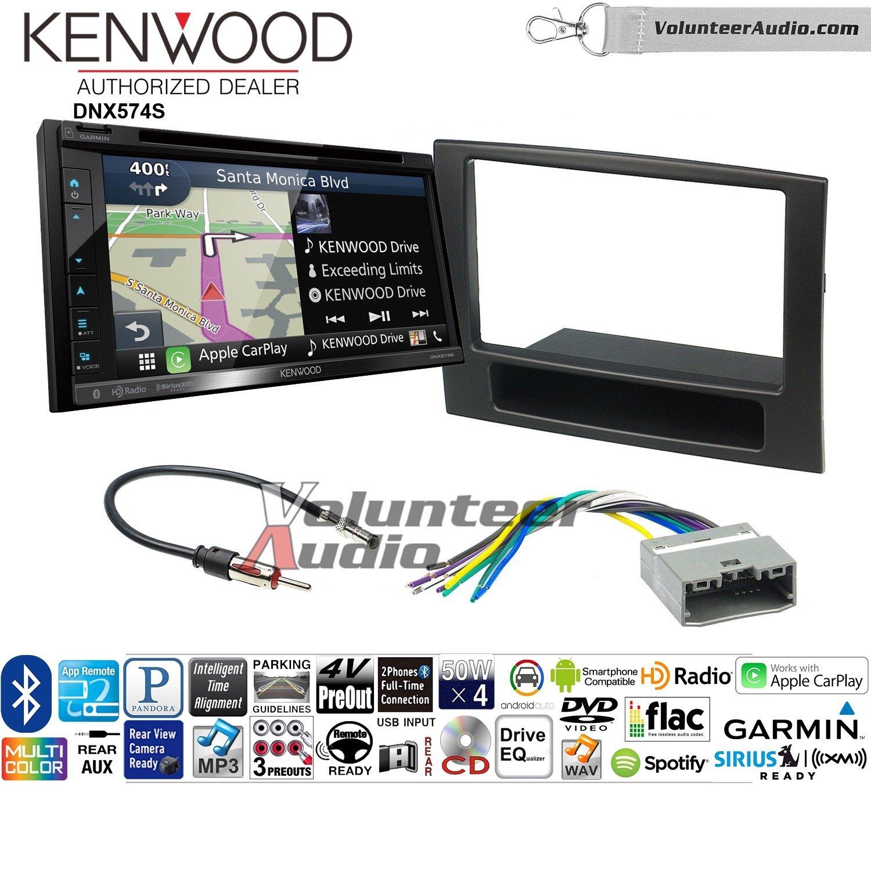 ボランティアオーディオKenwood dnx574sダブルDINラジオインストールキットwith GPSナビゲーションApple CarPlay Android自動Fits 2006 – 2008 Ram B07C22228X