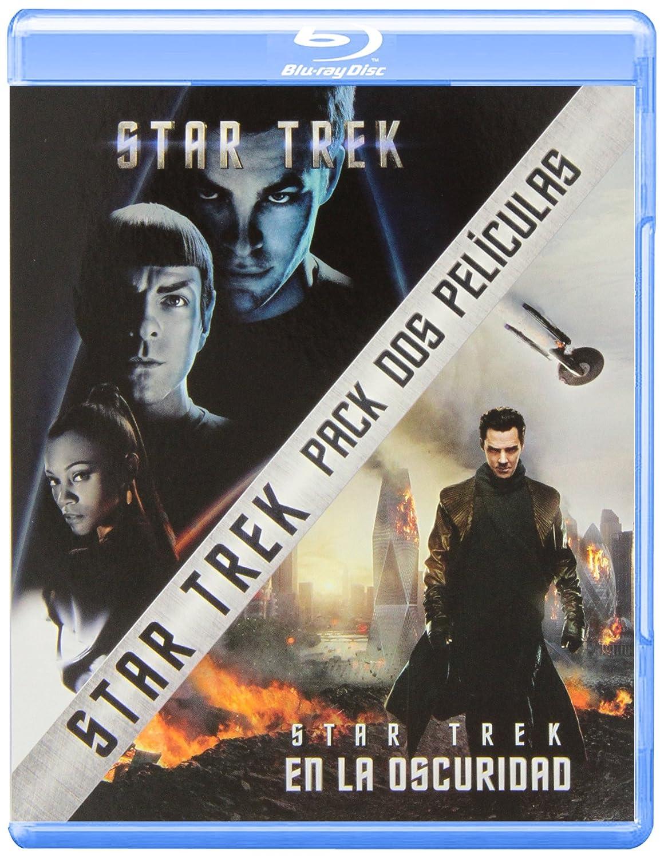 Pack: Star Trek + Star Trek: En La Oscuridad Blu-ray: Amazon.es: Chris Pine, Zachary Quinto, Zoe Saldana, Benedict Cumberbatch, Karl Urban, Simon Pegg, Alice Eve, Bruce Greenwood, Peter Weller, Anton Yelchin, John