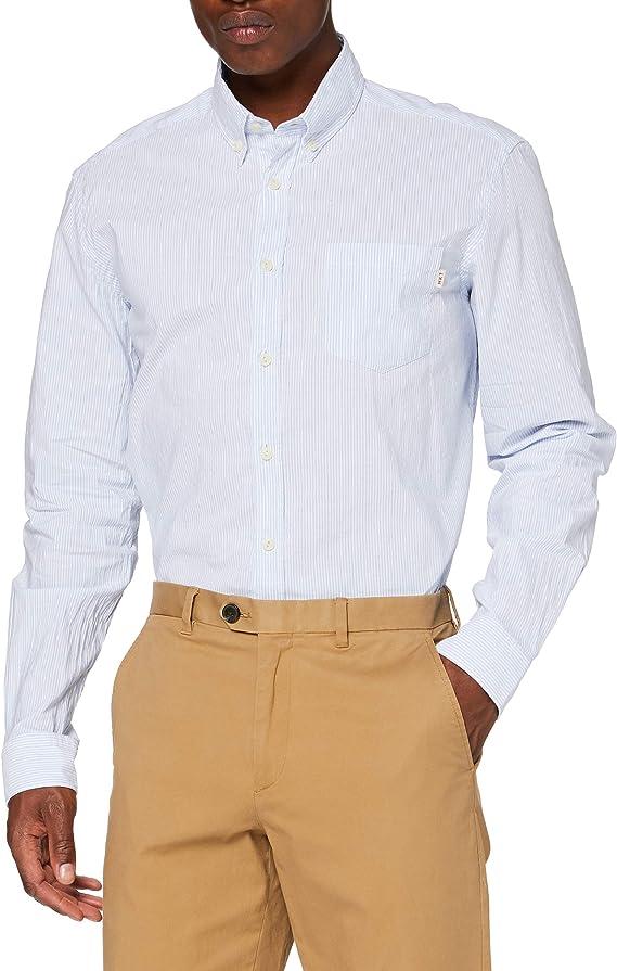 Hackett HKT BGL STR Camisa de Oficina, Azul (5arblue/White 5ar), L para Hombre: Amazon.es: Ropa y accesorios