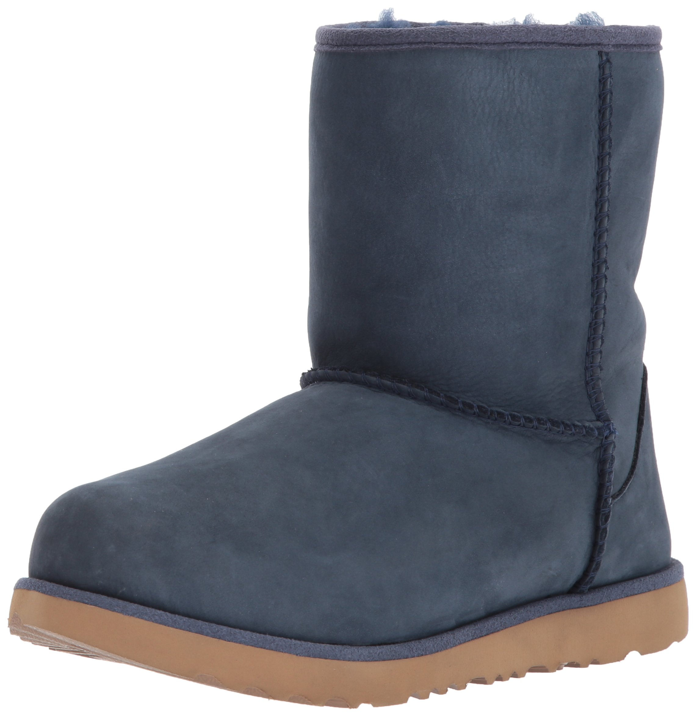 UGG Kids K Classic Short II WP Pull-On Boot, Navy, 1 M US Little Kid