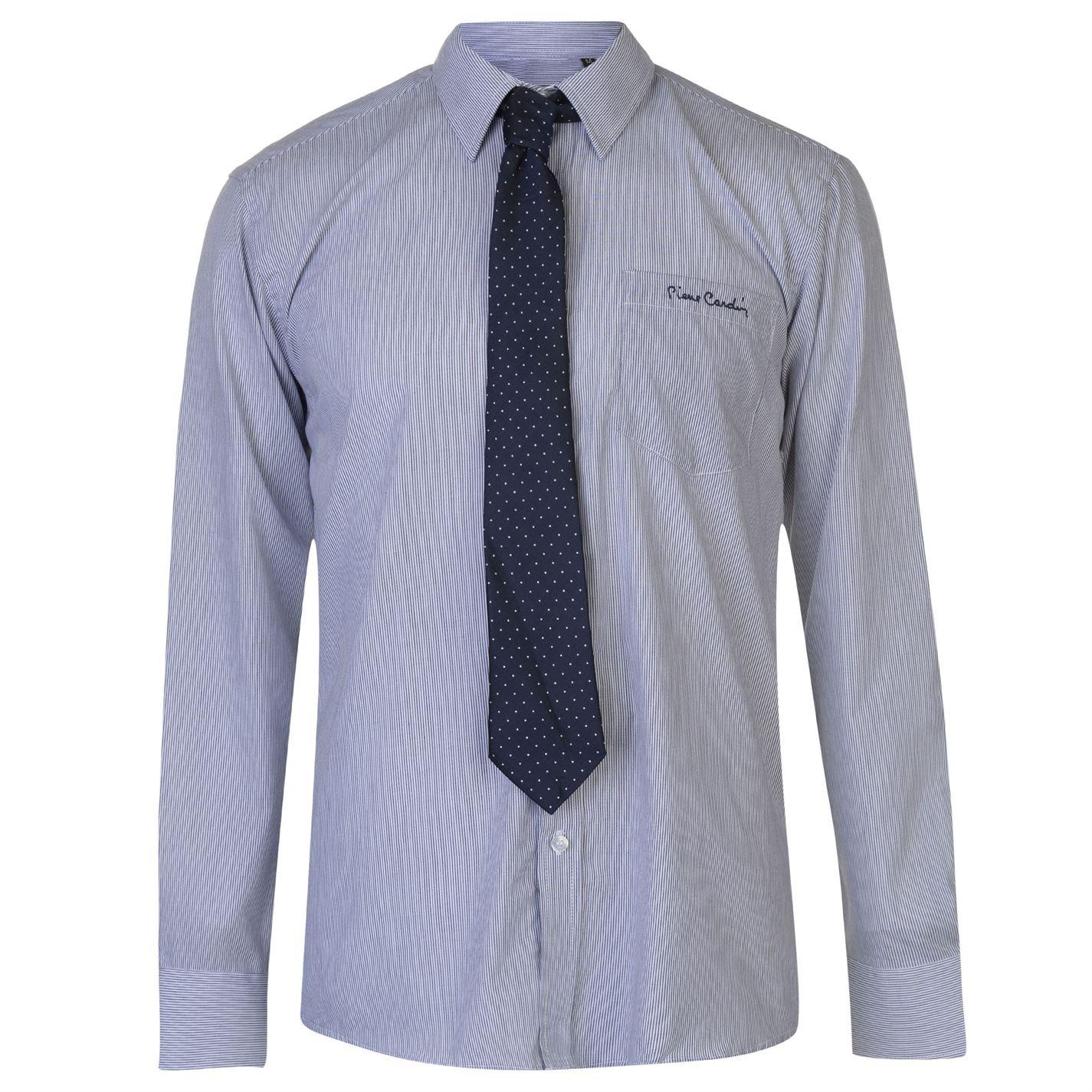Pierre Cardin Mens Long Sleeve Shirt with Giorgio Tie