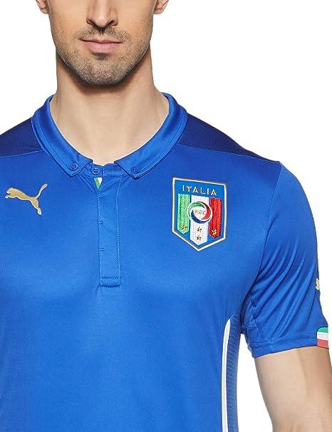 PUMA FIGC Italia Home Replica Team Power Camiseta, Hombre: Amazon ...