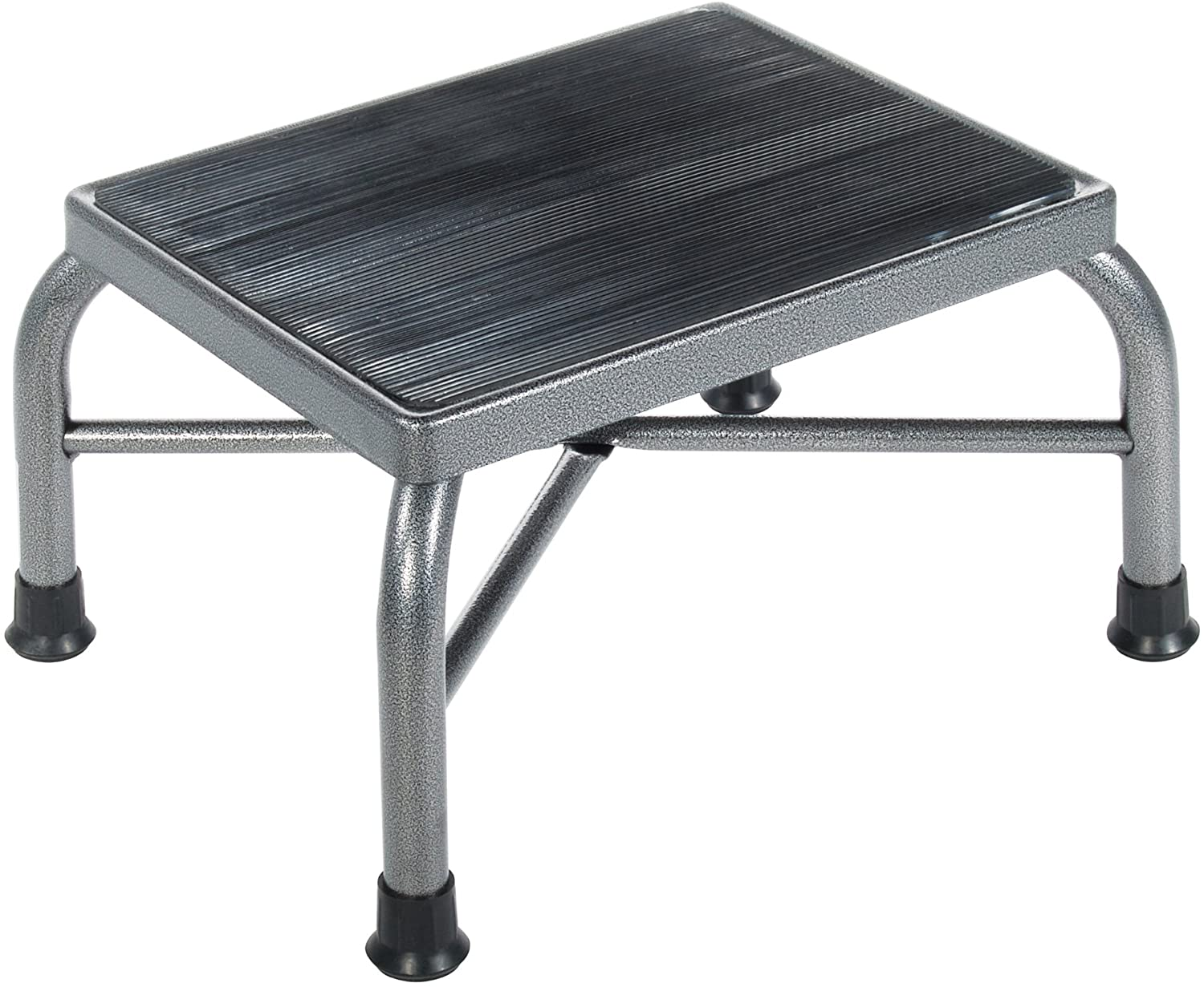 Drive Medical Heavy Duty Bariatric Footstool with Non Skid Rubber Platform, Silver Vein (Does Not Have Handrail)