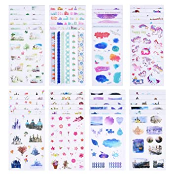 Amazon.com: Coopay - Juego de 48 hojas de papel pintado para ...