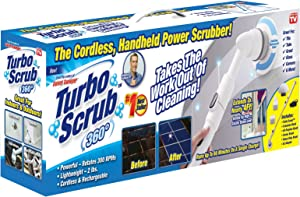 Turbo Scrub - 360 Cordless, Rechargeable Floor Scrubber and Tile Cleaning Machine
