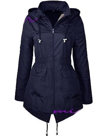 68d946d4118a1 MISSY - Manteau imperméable - Parka - Femme  Amazon.fr  Vêtements et ...