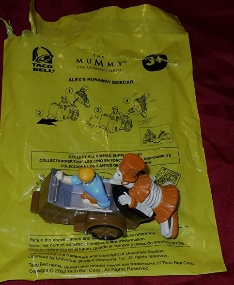 2002 Taco Bell Kids Meal Toy The Mummy The Animated Series Alexs Runaway Sidecar