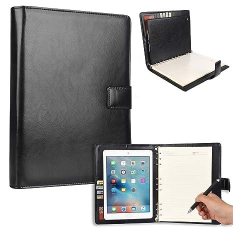 Funda Carpeta tipo Portafolio con Clasificador de Anillas Cooper Cases (TM) FolderTab Executive para for Apple iPad Air 1 (Piel sintética de alta ...