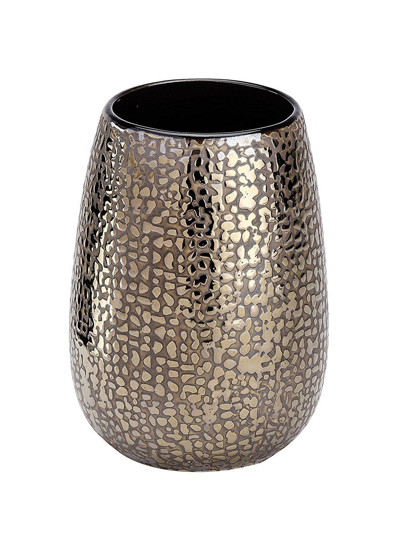 Keramik 8,3 x 11,4 x 8,3 cm Wenko 21642100 Zahnputzbecher Marrakesh braun
