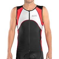 SLS3 Triathlon Men`s FX Tri Top | 3 Pockets | Full Zipper | Jersey | Singlet | Tank | Shirt | German Designed