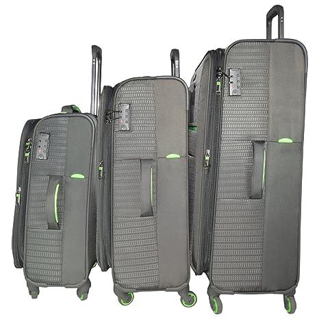 Traworld Jupiter 1003 Set of 3  20''+24''+28''  4Wheel Trolley Bag   Grey Luggage