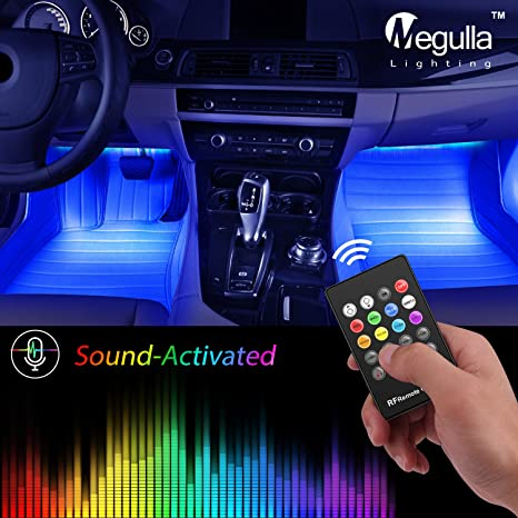 Underdash Lighting Kit Megulla Usb Rgb Multi Color Led Car Interior Lights With Sound Activation And Wireless Remote For Cars Trucks Pickups 4pc