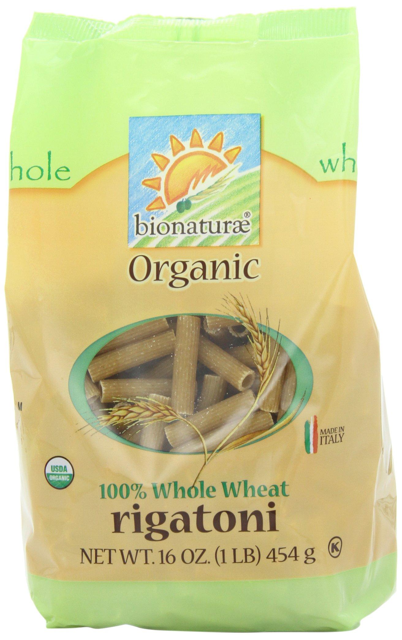 bionaturae Organic Whole Wheat Rigatoni, 16-Ounce Bag (Pack of 6)