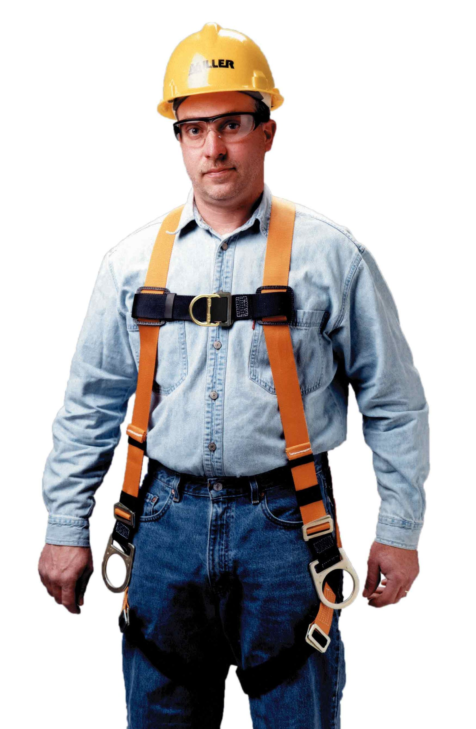 Miller Titan by Honeywell T4007FD/UAK Non-Stretch Harness with Front D-Ring, Universal