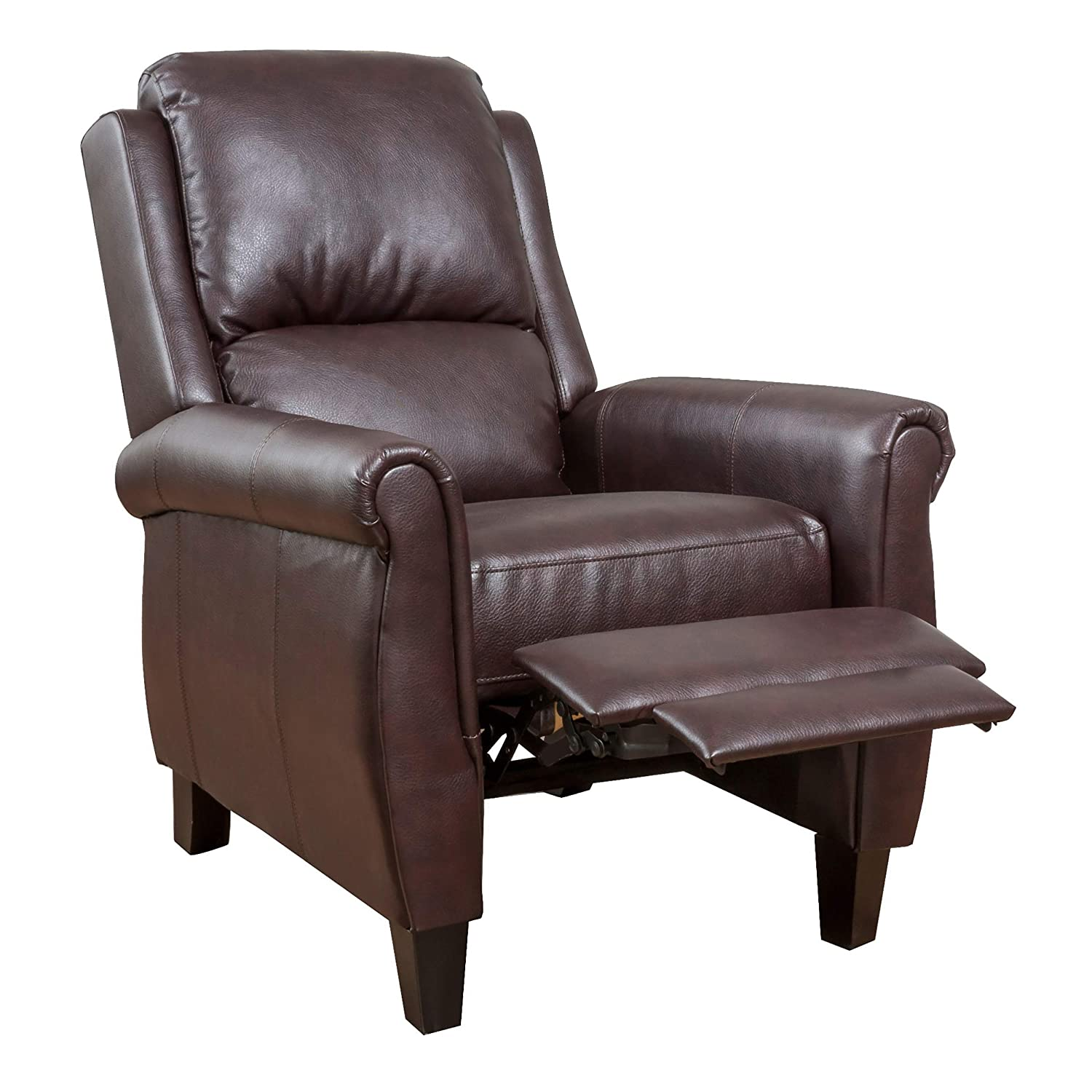 Christopher Knight Home 296596 Evan Pansy Recliner Club Chair, Burgundy Brown